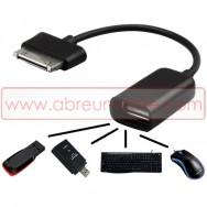 CABO ADAPTADOR USB OTG HOST COMPATIVEL CONECTOR SAMSUNG 30 PIN PARA FEMEA USB 2.0