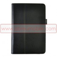Bolsa / Capa Pele Sintetica Folio c/ Cavalete para ACER ICONIA TAB B1-710 Preta