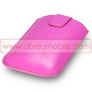 Bolsa / Capa Pele Sintetica Para ACER E130 Rosa