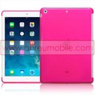 Bolsa / Capa Silicone Gel Para APPLE IPAD AIR / IPAD 5 Rosa Transparente (Compativel c/ Smart Cover)