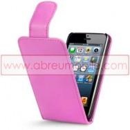Bolsa / Capa Pele Sintetica Flip Cover Para APPLE IPHONE 5 / 5S / SE Rosa