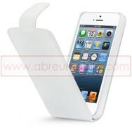 Bolsa / Capa Pele Sintetica Flip Cover Para APPLE IPHONE 5 / 5S / SE Branca