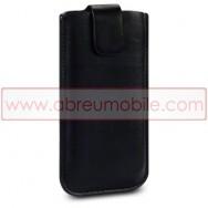 Bolsa / Capa Pele Sintetica Para APPLE IPHONE 5 / 5S / SE Preta
