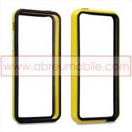 Bolsa / Capa Bumper Para Cobrir Laterais (Plastico / Borracha) Para APPLE IPHONE 5C Amarela