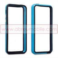 Bolsa / Capa Bumper Para Cobrir Laterais (Plastico / Borracha) Para APPLE IPHONE 5C Azul