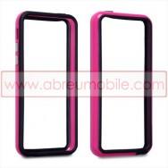 Bolsa / Capa Bumper Para Cobrir Laterais (Plastico / Borracha) Para APPLE IPHONE 5C Rosa