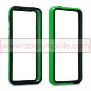 Bolsa / Capa Bumper Para Cobrir Laterais (Plastico / Borracha) Para APPLE IPHONE 5C Verde