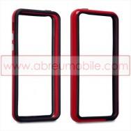 Bolsa / Capa Bumper Para Cobrir Laterais (Plastico / Borracha) Para APPLE IPHONE 5C Vermelha