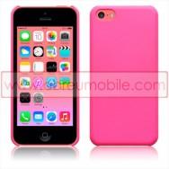 Bolsa / Capa Rigida Traseira Hibrida (Plastico C/Revestimento em Silicone) Para APPLE IPHONE 5C Rosa Opaca