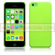 Bolsa / Capa Rigida Traseira Hibrida (Plastico C/Revestimento em Silicone) Para APPLE IPHONE 5C Verde Opaca