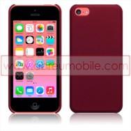 Bolsa / Capa Rigida Traseira Hibrida (Plastico C/Revestimento em Silicone) Para APPLE IPHONE 5C Vermelha Opaca