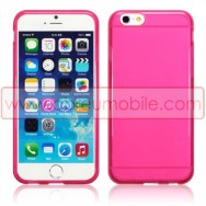 "Bolsa / Capa Silicone Gel TPU Para APPLE IPHONE 6 / 6s 4.7"" Rosa Transparente"