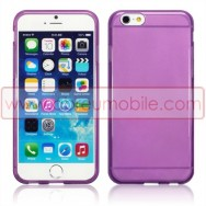 "Bolsa / Capa Silicone Gel TPU Para APPLE IPHONE 6 / 6s 4.7"" Roxa Transparente"