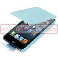 Bolsa / Capa Pele Sintetica Flip Cover Para APPLE IPOD TOUCH 5 Azul