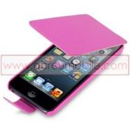 Bolsa / Capa Pele Sintetica Flip Cover Para APPLE IPOD TOUCH 5 Rosa
