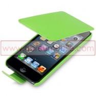 Bolsa / Capa Pele Sintetica Flip Cover Para APPLE IPOD TOUCH 5 Verde