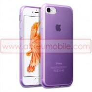 "Bolsa / Capa Silicone Gel Para APPLE IPHONE 7/8 (4.7"") Roxa Transparente"