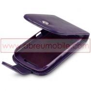 Bolsa / Capa Pele Sintetica Flip Cover Para BLACKBERRY CURVE 9350 / 9360 / 9370 Roxa