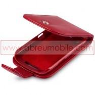 Bolsa / Capa Pele Sintetica Flip Cover Para BLACKBERRY CURVE 9350 / 9360 / 9370 Vermelha