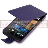 Bolsa / Capa Pele Sintetica Para HTC ONE (M7) Roxa