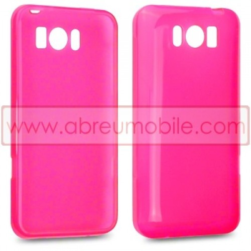 bolsa capa silicone gel para htc titan rosa 4 99