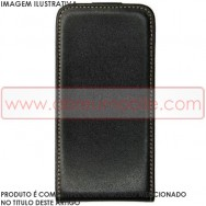 Synthetic Leather PU Flip Cover Case v2 For HUAWEI ASCEND Y300 Black w/ Tan Interior + Screen Protector Film