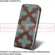 Bolsa / Capa Pele Sintetica Flip Cover Estampada v31 Para MICROSOFT LUMIA 435