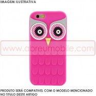 "Bolsa / Capa Silicone 3D ""Mocho"" Para APPLE IPHONE 6 / 6s 4.7"" Rosa"