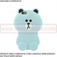 """Bolsa / Capa Silicone 3D """"Ursinho"""" Para SAMSUNG GALAXY S7 (SM-G930) Azul"""