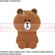 """Bolsa / Capa Silicone 3D """"Ursinho"""" Para SAMSUNG GALAXY CORE PRIME G360 Castanho"""