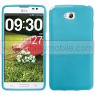 Bolsa / Capa Silicone Gel TPU c/ Efeito Metal Escovado Para LG G PRO LITE DUAL D686 Azul
