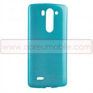 Bolsa / Capa Silicone Gel TPU c/ Efeito Metal Escovado Para LG G3s / D722 Transparente