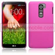 Bolsa / Capa Rigida Traseira Hibrida (Plastico C/Revestimento em Silicone) Para LG MAXIMO G2 / D802 Rosa Opaca