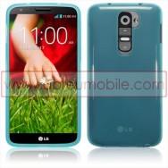 Bolsa / Capa Silicone Gel Para LG MAXIMO G2 / D802 Azul Transparente