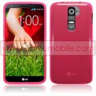 Bolsa / Capa Silicone Gel Para LG MAXIMO G2 / D802 Rosa Transparente