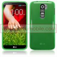 Bolsa / Capa Silicone Gel Para LG MAXIMO G2 / D802 Verde Transparente