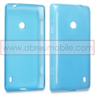 Bolsa / Capa Silicone Gel Para NOKIA LUMIA 520 / 525 Azul Transparente