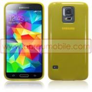 Bolsa / Capa Silicone Gel Para SAMSUNG GALAXY S5 G900 / S5 NEO G903 Amarela Transparente