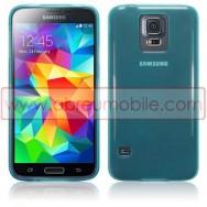 Bolsa / Capa Silicone Gel Para SAMSUNG GALAXY S5 G900 / S5 NEO G903 Azul Transparente