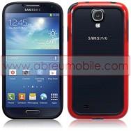 Bolsa / Capa Bumper Plastico/Silicone Para Samsung Galaxy S4 IV I9500 Vermelha e Preta