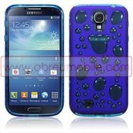 "Bolsa / Capa Silicone Gel ""Bolhas"" Para Samsung Galaxy S4 IV I9500 Azul"