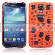 "Bolsa / Capa Silicone Gel ""Bolhas"" Para Samsung Galaxy S4 IV I9500 Laranja"