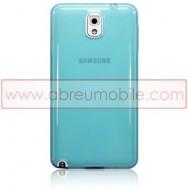 Bolsa / Capa Silicone Gel Para SAMSUNG GALAXY NOTE 3 III N9000 N9002 N9005 Azul Transparente