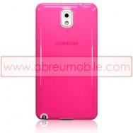 Bolsa / Capa Silicone Gel Para SAMSUNG GALAXY NOTE 3 III N9000 N9002 N9005 Rosa Transparente