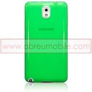Bolsa / Capa Silicone Gel Para SAMSUNG GALAXY NOTE 3 III N9000 N9002 N9005 Verde Transparente