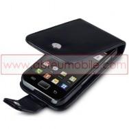 Bolsa / Capa Pele Sintetica Flip Cover Para SAMSUNG GALAXY ACE S5830 s5839i Preta