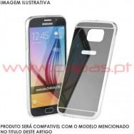 """Bolsa / Capa Silicone Gel Espelhada Para SAMSUNG GALAXY S8 (5.8"""") Cinza"""
