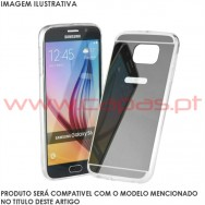 "Bolsa / Capa Silicone Gel Espelhada Para SAMSUNG GALAXY S8+ PLUS (6.2"") Cinza"