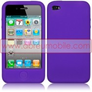 BOLSA / CAPA SILICONE PARA APPLE IPHONE 4 / 4S ROXA