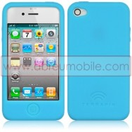 BOLSA / CAPA SILICONE PARA APPLE IPHONE 4 / 4S AZUL
